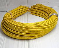 (50шт) Обруч  обмотанный атласной лентой  (5мм металлический).Цена за 50 шт. Цвет - желтый (сп7нг-4679)