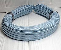 (50шт) Обруч  обмотанный атласной лентой  (5мм металлический).Цена за 50 шт. Цвет - голубой (сп7нг-4681)