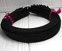 (50шт) Обруч  обмотанный атласной лентой  (5мм металлический).Цена за 50 шт. Цвет - черный (сп7нг-4683)