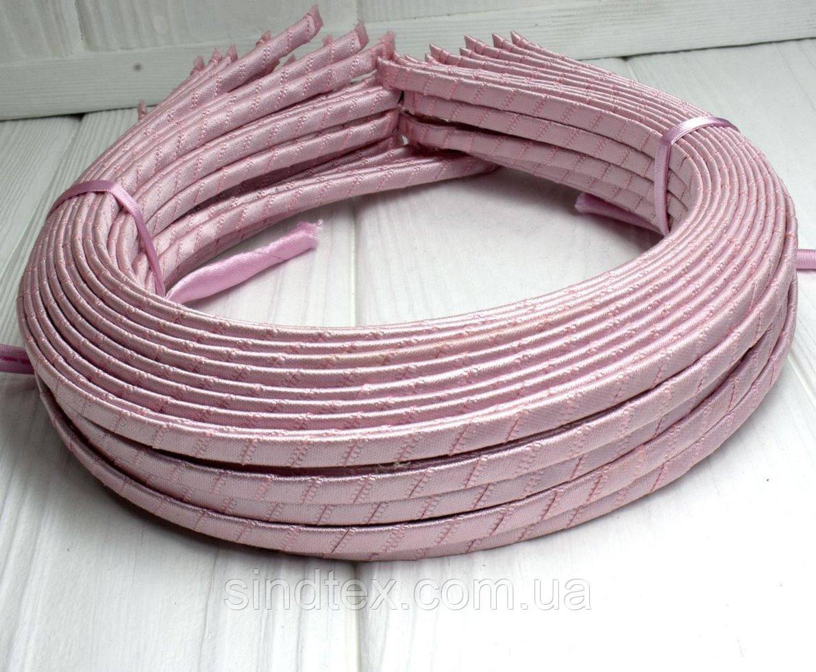 (50шт) Обруч  обмотанный атласной лентой  (5мм металлический).Цена за 50 шт. Цвет - розовый (сп7нг-3242)