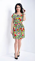 Летнее платье с оригинальным принтом, фото 1