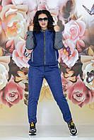 Женский спортивный костюм Турецкий джинс и двунитка Размер 44 46 48 50 52 54 Разные цвета