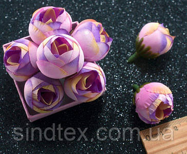 """(10шт) Головы цветов """"Бутоны"""" Ø25мм Цвет - Сиреневые переливы (сп7нг-4637)"""