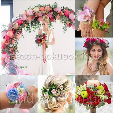 """(10шт) Головы цветов """"Бутоны"""" Ø25мм Цвет - Розовые переливы (сп7нг-2163), фото 2"""