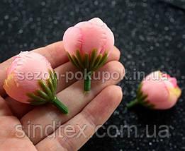 """(10шт) Головы цветов """"Бутоны"""" Ø25мм Цвет - Розовые переливы (сп7нг-2163), фото 3"""