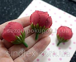 """(10шт) Головы цветов """"Бутоны"""" Ø25мм Цвет - Красный (приглушенный) (сп7нг-2165), фото 3"""