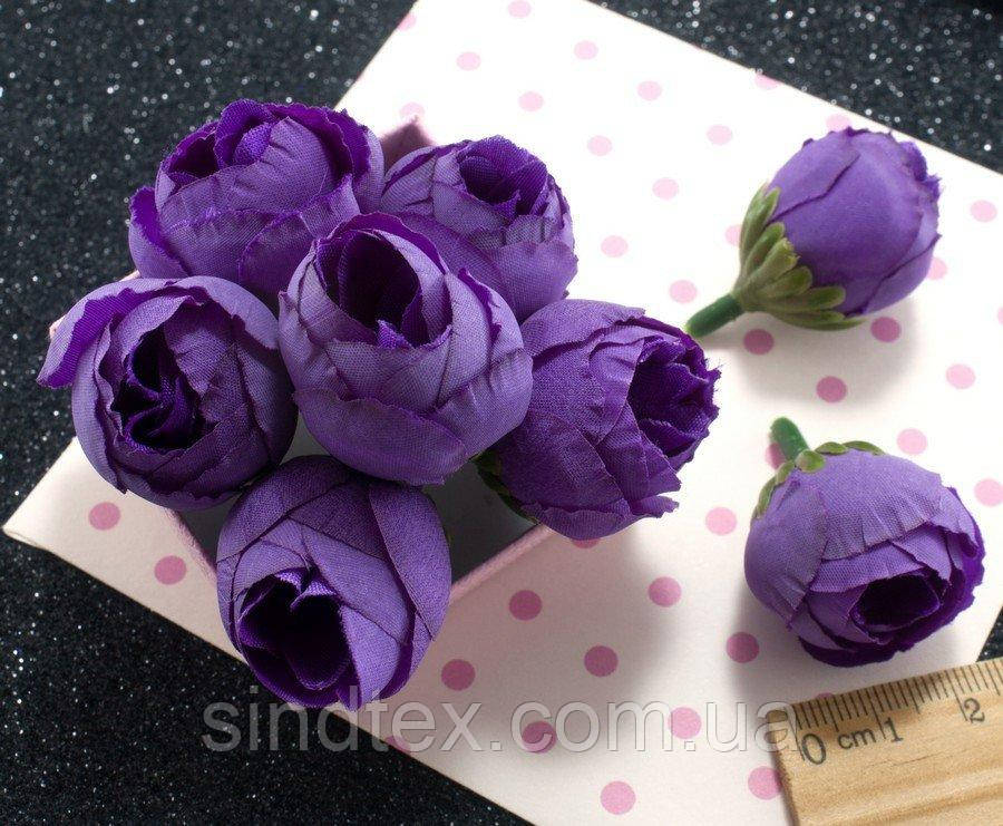 "(10шт) Головы цветов ""Бутоны"" Ø25мм Цвет - Фиолетовый (сп7нг-2167)"