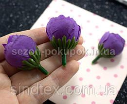 "(10шт) Головы цветов ""Бутоны"" Ø25мм Цвет - Фиолетовый (сп7нг-2167), фото 3"
