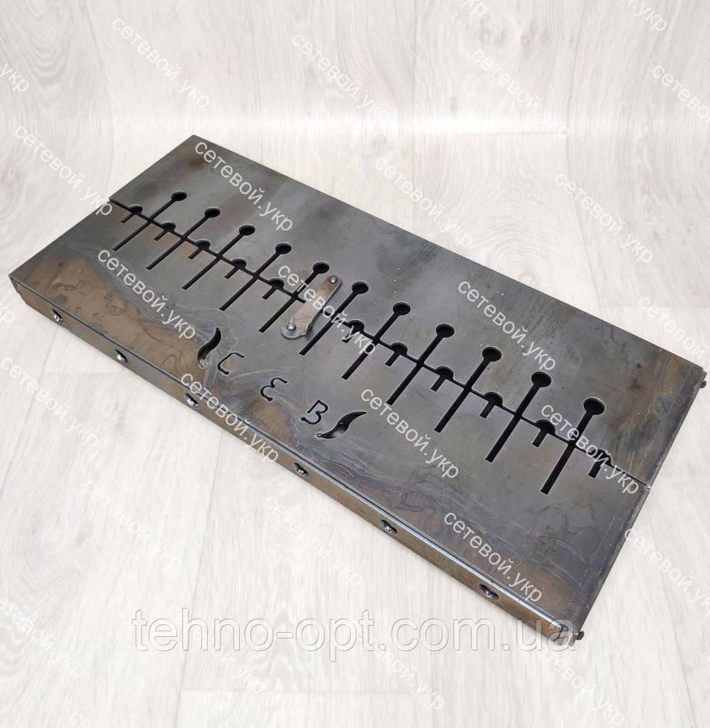 Мангал раскладной в чемодан 3 мм с ножками на 12 шампуров