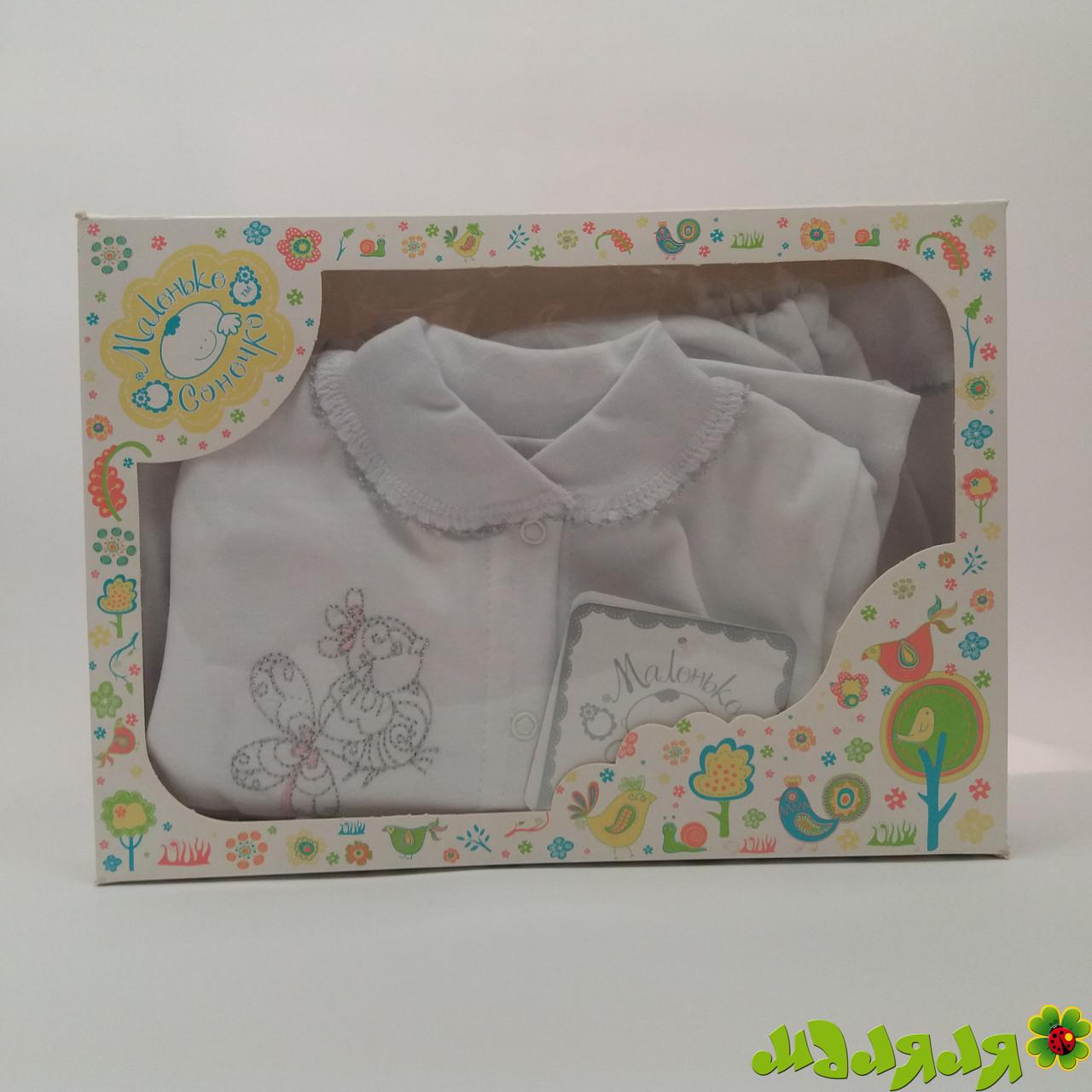 Комплект детский с орнаментом розовый 56р (3КИ-10)