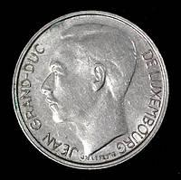 Монета Люксембурга 1 франк 1980 г. Жан I
