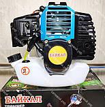 Бензокоса Байкал ББТ-6100 Professional 2 ножа 1 катушка мотокоса, фото 4