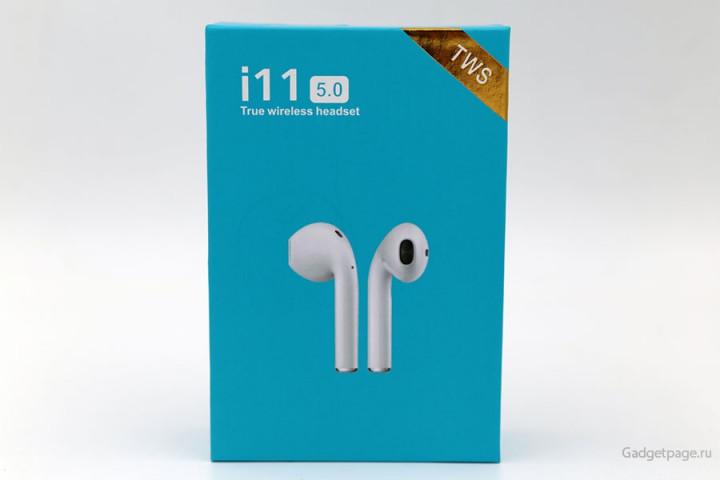 Беспроводные наушники i11-TWS Bluetooth 5.0 Sensor Luxury