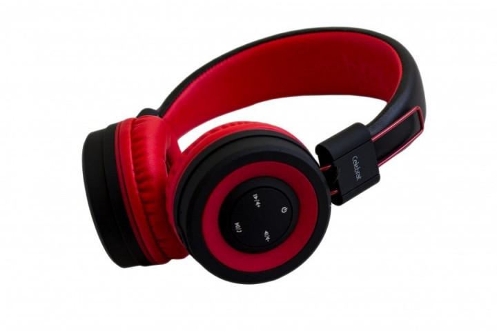Наушники беспроводные bluetooth навушники с микрофоном Блютуз гарнитура для телефона,ПК Celebrat A4  Красные