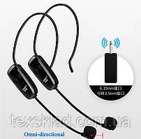 Універсальні Бездротові мікрофони на голову (2шт) + Приймач NEWGOOG Wireless UHF