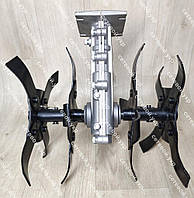 Насадка культиватор рыхлитель для мотокосы26 мм штанга (вал 9 шлицов) на подшибниках