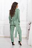Летний брючный костюм из ткани киви, 4цвета (пиджак+брюки)  р.44-46,48-50,52-54  Код 997В, фото 2