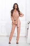 Летний брючный костюм из ткани киви, 4цвета (пиджак+брюки)  р.44-46,48-50,52-54  Код 997В, фото 3