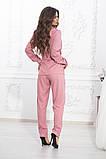 Летний брючный костюм из ткани киви, 4цвета (пиджак+брюки)  р.44-46,48-50,52-54  Код 997В, фото 6