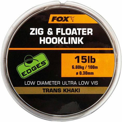 Поводочный материал Fox Zig and Floater Hooklink Trans Khaki - 15lb (0.30mm), фото 2