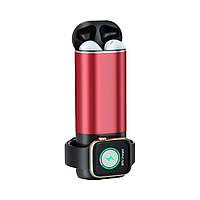 Power Bank 3 в 1 для Iphone, Apple Watch и AirPods Красный