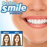 Временные сьемные виниры (зубы) красивый прикус красивые зубы Perfect Smile Veneers White (VENEEROOD), фото 1