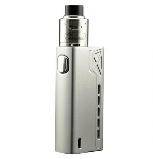 Электронная сигарета Tesla Terminator 90W мод Silver Стартовый набор с аккумулятором