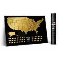 Скретч карта 1DEA.me Travel Map of the USA Black (USAB)