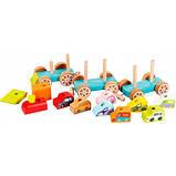 Дерев'яна іграшка Cubika Поїзд з машинками (13999), фото 2