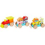 Дерев'яна іграшка Cubika Поїзд з машинками (13999), фото 3