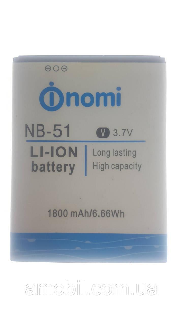 Аккумулятор Nomi i500 NB-51 (1800 mAh) 100% orig б/у