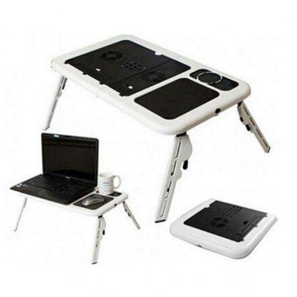Столик трансформер для ноутбука Портативный с вентилятором Laptop Table Подставка стол с кулером складной