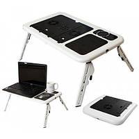 Стол-трансформер для ноутбука Laptop Table с активным охлаждением Портативный стол с вентилятором складной, фото 1