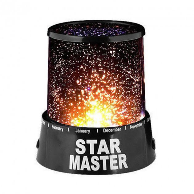 Дитячий проектор зоряного неба нічник star master з USB-кабелем нічний світильник місяць