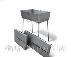 Мангал трансформер на 8 Шампуров (Чемодан ,3 мм)