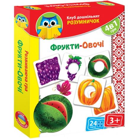 Розвиваюча гра Vladi Toys Фрукти овочі (VT1306-13)