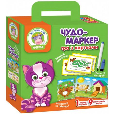 Гра з картками Vladi Toys Чудо маркер Ферма (VT2100-06)