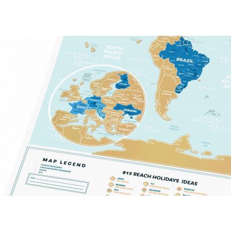 Скретч карта світу 1DEA.me Holiday Lagoon ENG (HWL)