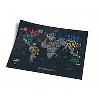 Скретч карта світу 1DEA.me Letters World ENG (LW)