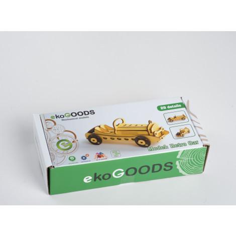Дерев'яний 3D пазл EcoGoods Ретро кар (19871998)
