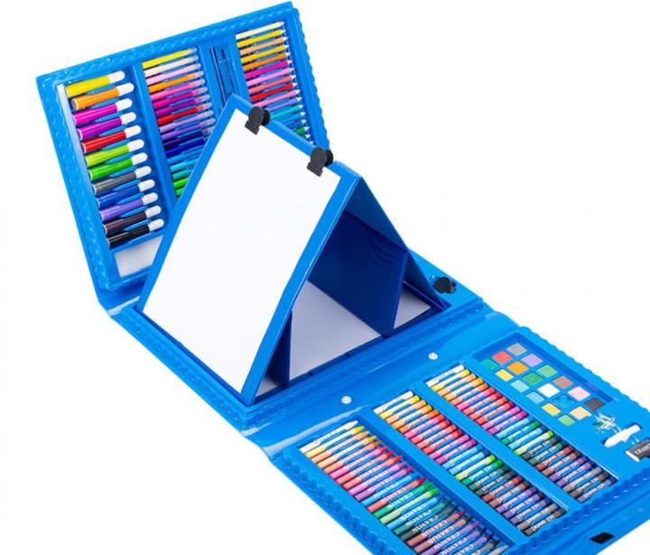 Набор для рисования и творчества в чемоданчике с мольбертом Just Amazing 176 предметов набор художника Синий