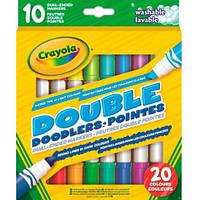 Двосторонні фломастери Crayola Double Doodlers 10 шт змиваються водою (58-8311)