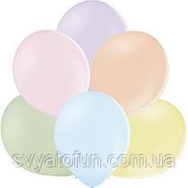 """Латексные шарики 12"""" пастель В105 ассорти экстра макарун (50шт/уп) BelBal"""