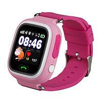 Умные детские часы Smart Baby Watch Q80 Розовые