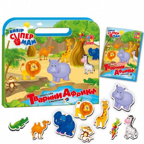 Гра з магнітами Vladi Toys Тварини Африки, укр. мова (VT3104-04)