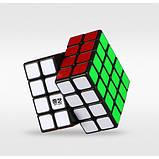 Головоломка Кубик Рубіка QiYi 4х4  MoFangGe QiYuan чорний пластик(6948154201611), фото 3