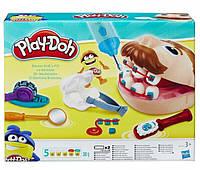 Детский игровой набор пластилина для лепки стоматолог дантист Плей До Мистер зубастик Play-Doh
