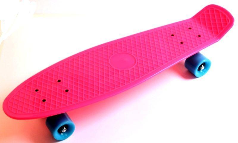 "Penny Board Nickel 27"" Pink. Матовые колеса"