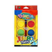Фарби акварельні Colorino Jumbo 8 кольорів і пензлик (32612PTR)