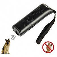 Профессиональный ультразвуковой отпугиватель от собак с фонариком Repeller AD 100 Prof S с функцией тренировка черный